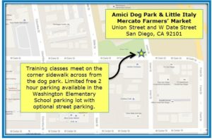 Amici Dog Park & Little Italy Mercato Famers' Market Map