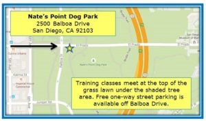 GSSD Appointment Map_Balboa Park, Nate's Point Dog Park_2015